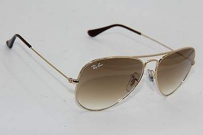 Ray-Ban Rb 3025 Aviator 001/51 Gold Gradient Authentic Sunglasses 58-14 - 245