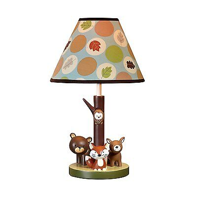 Lamp Shade Woodland Animals Bear Deer Nursery Light Baby Kids Toddler New