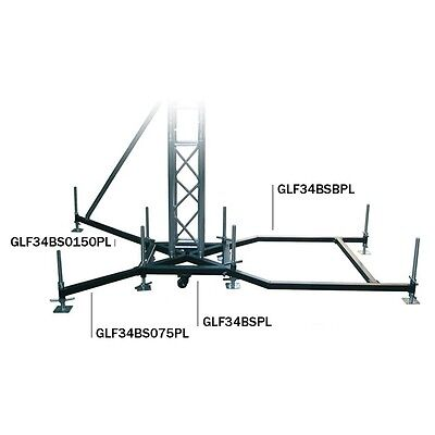 Global Truss Ground Support F34PL BS Steel [GLF34BSPL] Truss