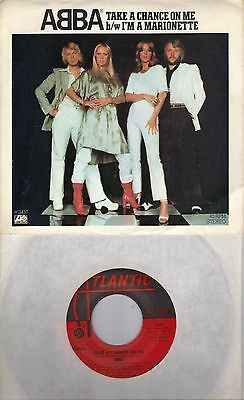 ABBA  Take A Chance On Me / I'm A Marionette 45 with PicSleeve