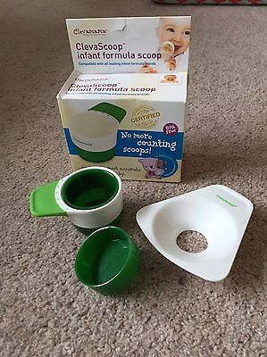 Clevamama ClevaScoop Infant Formula Scoop (Baby Bottle Feeding) No More Scoops!