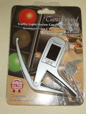 Tanglewood pro quality capo - tuner for electric and acoustic guitars, FCT1
