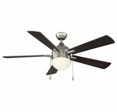 """Savoy House 52-150-5RV-SN Juneau Ceiling Fan, 52"""" with Remote in Satin Nickel"""
