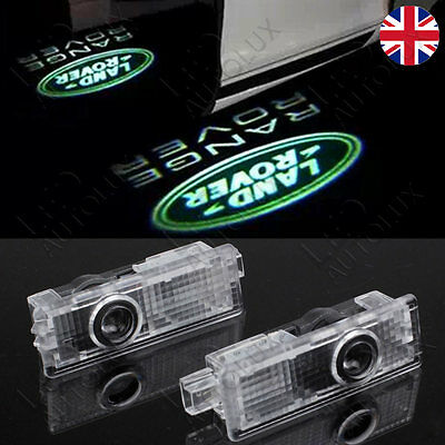 2x Laser LED Door Logo For Land Range Rover Projector Puddle Shadow Lights Lamps
