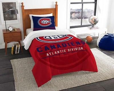 Montreal Canadiens - 2 Pc TWIN Size Printed Comforter/Sham Set