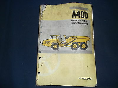 volvo a40d articulated truck operation maintenance book manual rh picclick com Volvo A35D Gimbal Joint Grease Volvo Truck Operators Manual