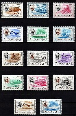 Ajman - 1967 - Transport - Aircraft - Ship - Camel - Horse ++ 14 X Mint Set!