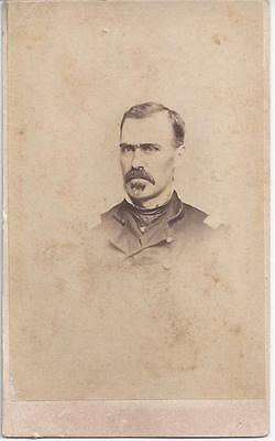 1860 Civil War Cdv Identified Officer Bvt Brig Gen W H Davis 104Th Pa Infantry
