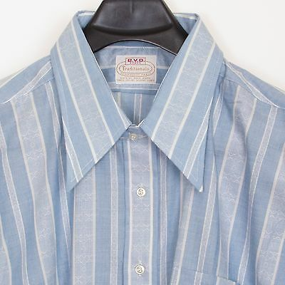 1970's vintage deadstock/NOS B.V.D. Brand Traditionals poly/cotton shirt, 19/34