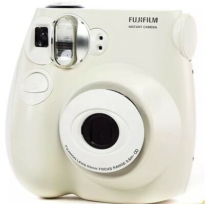 Fujifilm Instax Mini 7s Instant Camera with 60mm Lens White Instant Film Camera