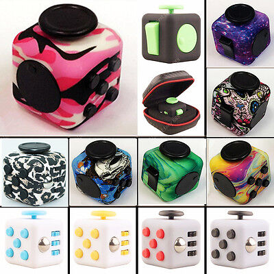 2017 Fidget Cube Anxiety Stress Relief Fun Desk Toys For Adults Kids ADHD&AUTISM