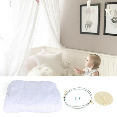 Kids Bedding Round Dome Bed Canopy Cotton Linen Mosquito Net Curtain Room Decor