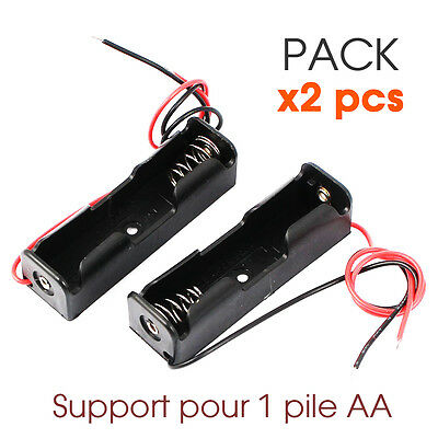 PACK x2 PCS Boitier Bloc Support pour Pile AA 1.5V LR6 Battery Holder Case DIY