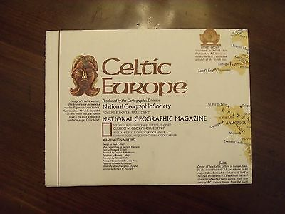 National Geographic Map Celtic Europe May 1977