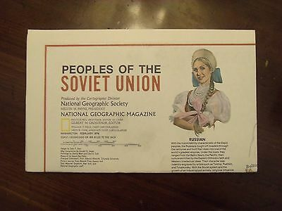 National Geographic Map Peoples Of The Soviet Union February 1976