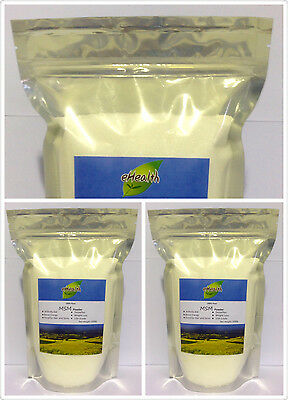 MSM Powder 3kg - Arthritis Aid, Pharmaceutical Grade - 99.9% Pure