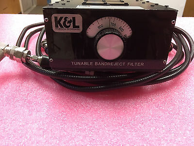 K&L Tunable Bandreject Filter 3TNF-800/1000-0.2-N/N 800-1000Mhz,
