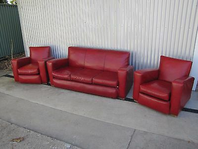 Ruby Red Retro Club Lounge and Chairs