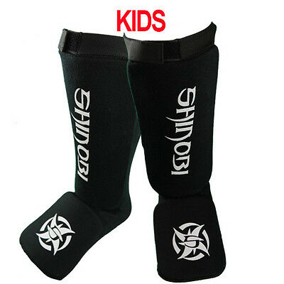 Shinobi Shin And Instep Guards Kids - Black