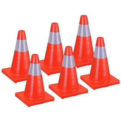"""18"""" Road Traffic Cone Reflective Overlap Parking Emergency Safety Cone 4/6pc VAT"""