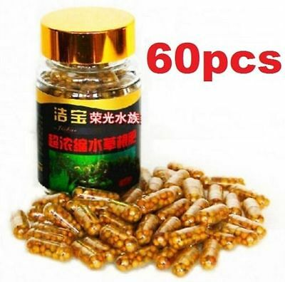Aquarium Plant Grass Fertilizer Root Tab Capsules With Bottle 60 Capsules 60PCsA