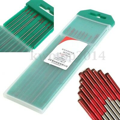 10pcs WT20 Tungsten 2% Lanthanated Blue Tip TIG Welding Electrodes 150mm / 6""