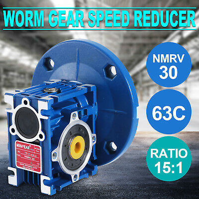 NMRV030 Worm Gear Ratio 15:1 63C Speed Reducer Gearbox 0.38HP Selling 1PC Hot