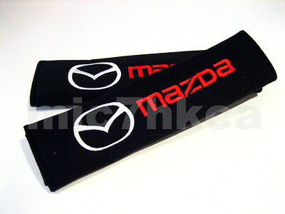 2x soft car seat belt harness cushion shoulder cover pads for MAZDA (UK stock)