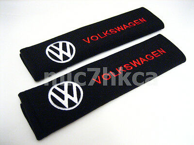 2x soft car seat belt harness cushion cover pads for VOLKSWAGEN VW (UK stock)