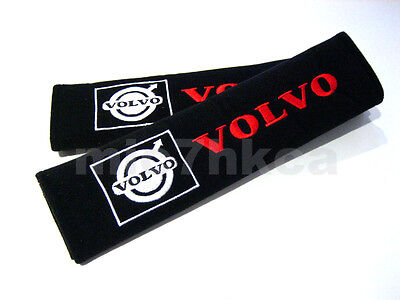 2x soft car seat belt harness cushion shoulder cover pads for VOLVO (UK stock)