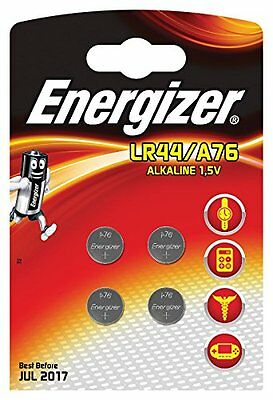 ENERGIZER Lot de 4 piles A76 LR44 AG13-calculatrice/photo. en blister de 4 piles