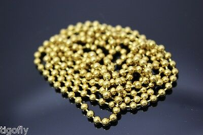2 Meters Assorted Copper Golden Bead Chain Fish Eyes Fly Tying Beads Materials