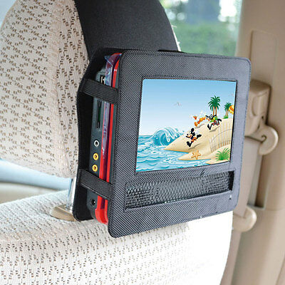 "TFY Car headrest mount holder and strap for 9"" portable DVD player New"