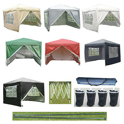 3X3M Pop Up Gazebo Waterproof Garden Marquee Awning Party Tent Canopy Outdoor UK