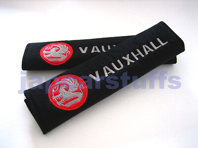 2x soft car seat belt harness cushion cover pads for VAUXHALL red (UK stock)