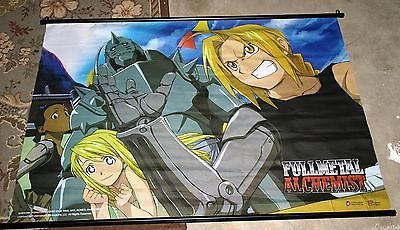 Graphic Fabric Poster Anime Full Metal Alchemist Animated Wall Scroll Excellent