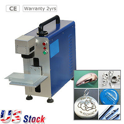 USA Free Ship - 20W Portable Fiber Laser Marking Machine for Metal and Non-metal