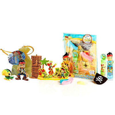 New Disney Jake & The Never Land Pirates Baby Bath Set & Figures Bundle Ages 3+