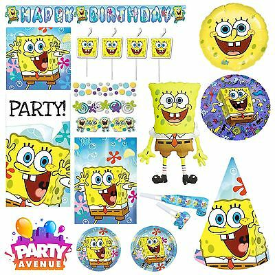 Spongebob  Party Tableware Decorations Balloons Favours