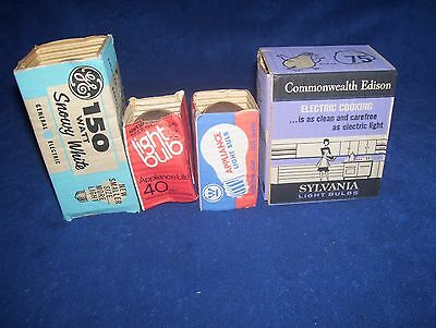 5 Vintage Little Bill Bird Light Bulb GE Westinghouse Commonwealth Edison