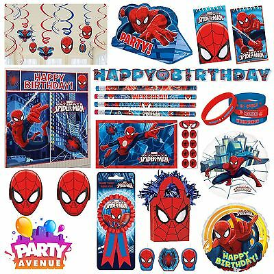Spiderman Party Tableware Decorations Balloons Favours