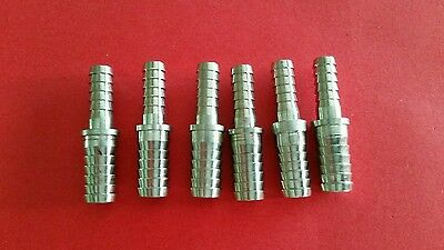 """Stainless Splicer 3/8""""x1/4"""" Barb--Lot of 6--"""