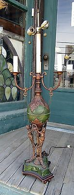 Large Victorian Figural Table Lamp With Ladies