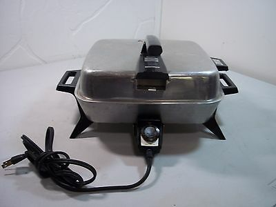 Vintage Westinghouse Electric Skillet Fry Pan Broiler- Works