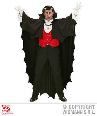 Fancy Dress Adults Vampire Cape 150cm Dracula Halloween Jagged Edge Full Length