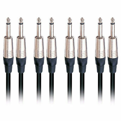 4 X 10ft 3m Quality Guitar Cable Lead Noiseless 2 Year Warranty DP Stage GC50-3