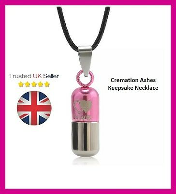 Cremation Ashes Memorial Jewellery Love Bullet Pink Rememberance Keepsake