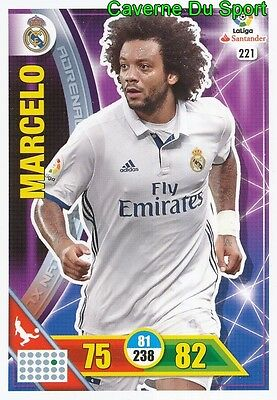 221 Marcelo Brazil Real Madrid Card Adrenalyn Liga 2017 Panini