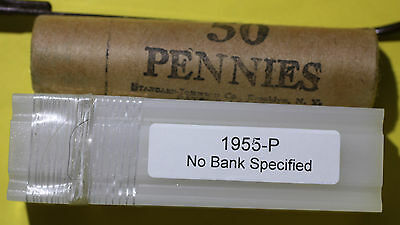 BU 1955 Original Bank Wrapped Penny Roll / Untouched / NEVER Opened