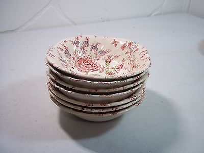 Vintage Lot of 7 Johnson Bros Rose Chintz Small Bowls - FREE SHIPPING!
